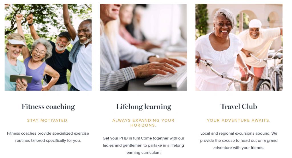 Senior Living Community Marketing Amenities