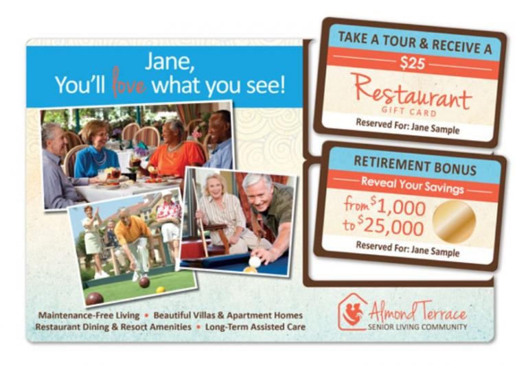 Senior living community marketing direct mail