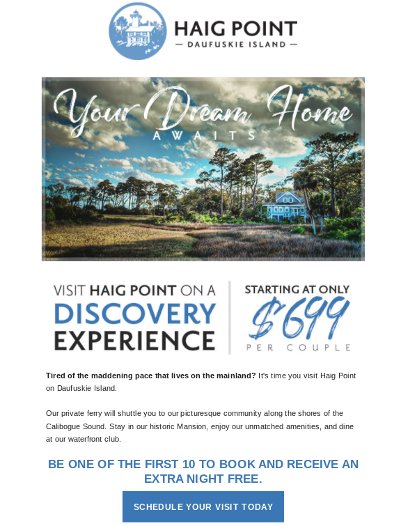 Senior living marketing email